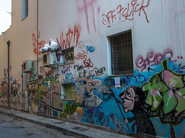 Alleys of Athens with Inanimate Creatures
